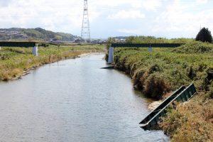 流失した杣川橋梁
