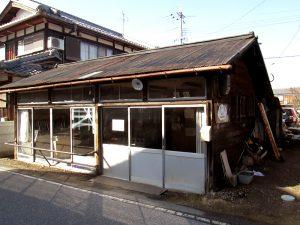 廃業した自転車店